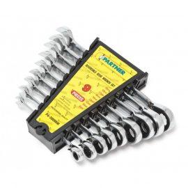 Набор ключей комбинированных трещоточных с реверсом 9пр. (8,10,12,13,14,16,17,18,19мм) в пластиковом держателе