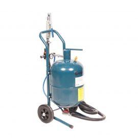 Передвижной пескоструйный аппарат напорного типа (бак 19л, 170-566л/мин, 4-8,5атм)пневмо