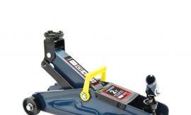 Домкрат подкатной 2 т с вращающейся ручкой 180 градусов(h min 140мм, h max 340мм,вес 10 кг) с резиновой накладкой в кейсе