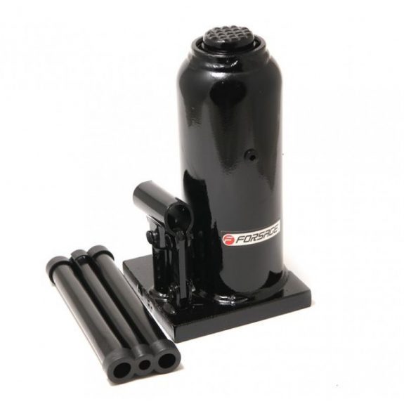 Домкрат бутылочный 15т с клапаном (h min 230мм, h max 460мм, ход штока-150мм, ход винта-80мм)
