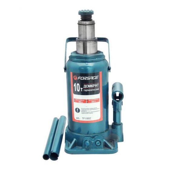 Домкрат бутылочный с двумя штоками, 10т (h min 220мм, h max 510мм)