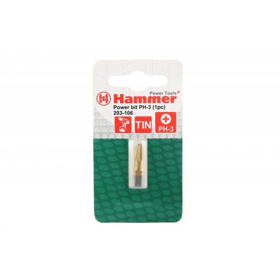 36727 Бита Hammer Flex 203-106 PB PH-3 25mm (1pc) TIN, 1шт.