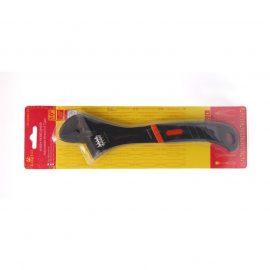 Ключ разводной с прорезиненной рукояткой 12»-300мм, в блистере