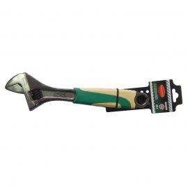 Ключ разводной с резиновой рукояткой 12»-300мм (захват 35мм), на пластиковом держателе
