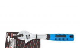 Ключ разводной с прорезиненной рукояткой 12»-300мм (захват 35мм), на блистере