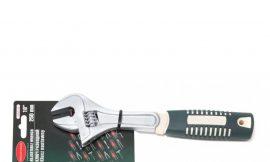 Ключ разводной с прорезиненной рукояткой 10»-250мм (захват 30мм), на блистере
