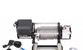 Лебедка автомобильная 4.5т, 12V (стальной трос)