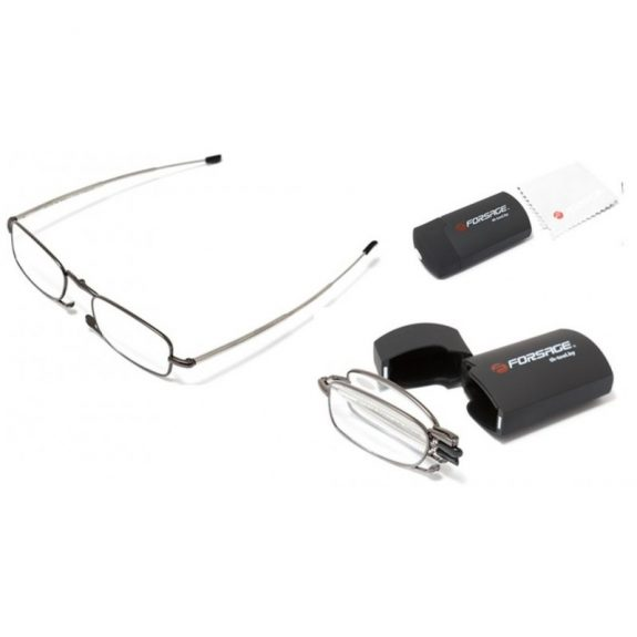 Очки для чтения компактные (+1.00, металлическая оправа), в пластиковом футляре