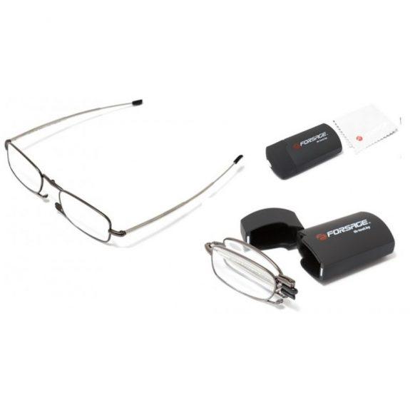 Очки для чтения компактные (+1.50, металлическая оправа), в пластиковом футляре