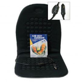 Накидка на сиденье с подогревом »SIGMA»черная, с регулятором температуры, 12V (36561)