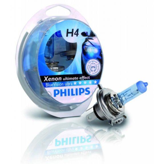Автолампа H4 (60/55) P43t-38 BLUE VISION ULTRA 4000K (2шт+2шт W5W) 12V