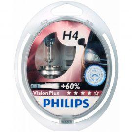 Автолампа H4 (60/55)+50% P43t-38 VISION PLUS (2шт) 12V