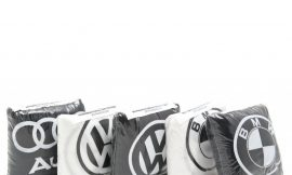 Чехол на подголовник WHITE BMW (2шт)