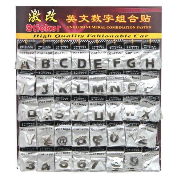 Наклейки буквы+цифры (Англ.алф) планшет(200шт)