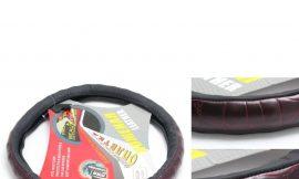 Чехол руля кожа 0244 black/wood-M (10000420)