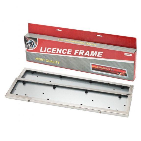 Рамка для номера нержавейка 2шт (Stainless steel) HJ-PF001