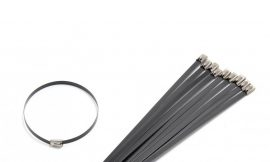 Хомут-стяжка железный 4.6ммx200мм BLACK (10шт)