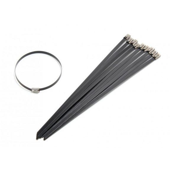 Хомут-стяжка железный 4.6ммx300мм BLACK (10шт)