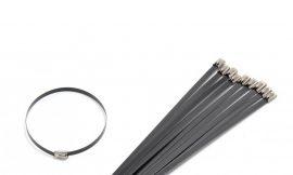 Хомут-стяжка железный 4.6ммx600мм BLACK (10шт)
