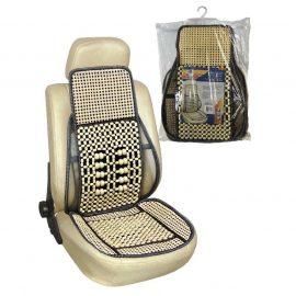 Накидка на сиденье »Nova Bright»деревянная массажная с поясничной опорой