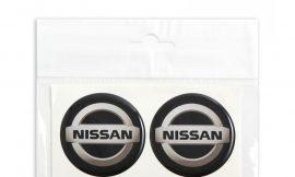 Наклейки на колпак СИЛИКОН 55мм Nissan 4пр