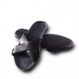 Пантолеты мужские (нат. кожа,нескользящ. подошва из термост-го полиуретана, каблуком–10мм,44р-р)