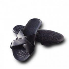 Пантолеты мужские (нат. кожа,нескользящ. подошва из термост-го полиуретана, каблуком–10мм,43р-р)