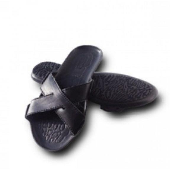 Пантолеты мужские (нат. кожа,нескользящ. подошва из термост-го полиуретана, каблуком–10мм,41р-р)
