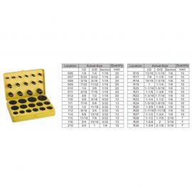 Кольца уплотнительные резиновые маслобензостойкие, 382пр. (дюймовые)