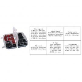 Кольца, шайбы уплотнительные резиновые, асбестовые и пластиковые, 383пр.