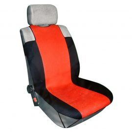 Чехлы на сиденье R-318 RED »3D»передние с сеткой (майка) (2шт) FORMA