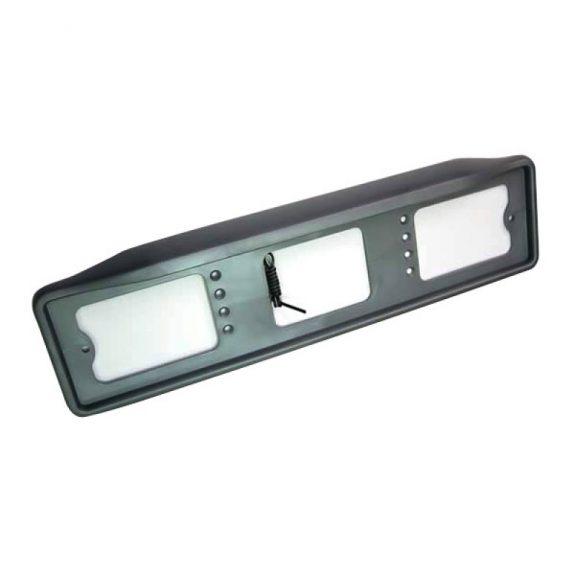 Рамка для номера с подсветкой №003 б/надписи (чёрная)