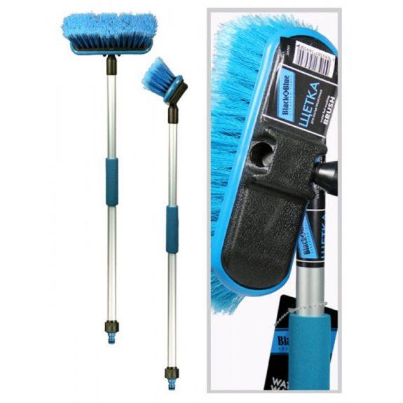 Щетка для мытья (ВВ601) »Black&Blue»проточная ручка со штуцером для подачи воды (80см)