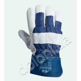 Перчатки DOLONI-4503 Combi (серый спилок+ткань)