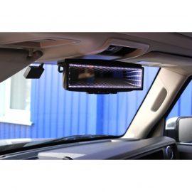 Зеркало в/салонное QR-115 с 3D подсветкой 280мм