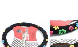 Чехол руля HL-548BK-M (цветы)
