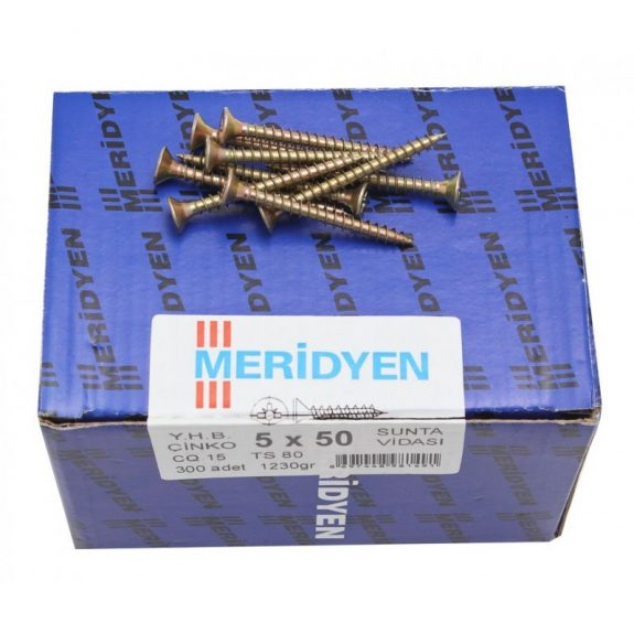 Chipboard screw, yellow galvanized (500шт)