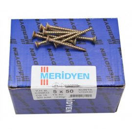 Chipboard screw, yellow galvanized (250шт)