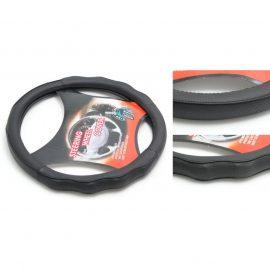 Чехол руля кожа-PU H-8501-M (black) (A)