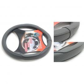 Чехол руля кожа-PU H-8504-M (dark grey) (A)