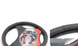 Чехол руля кожа H-8506-M (black/snake) (A)