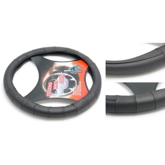 Чехол руля кожа H-8508-M (black) (2)