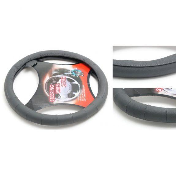 Чехол руля кожа H-8509-M (dark grey) (A)