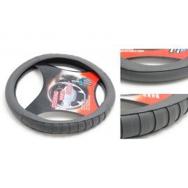 Чехол руля кожа-PU H-8539-M (dark grey) (A)