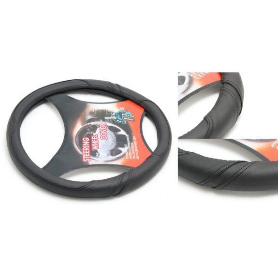 Чехол руля кожа-PU H-8541-M (black) (A)