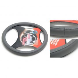 Чехол руля кожа-PU H-8542-M (dark grey) (2)