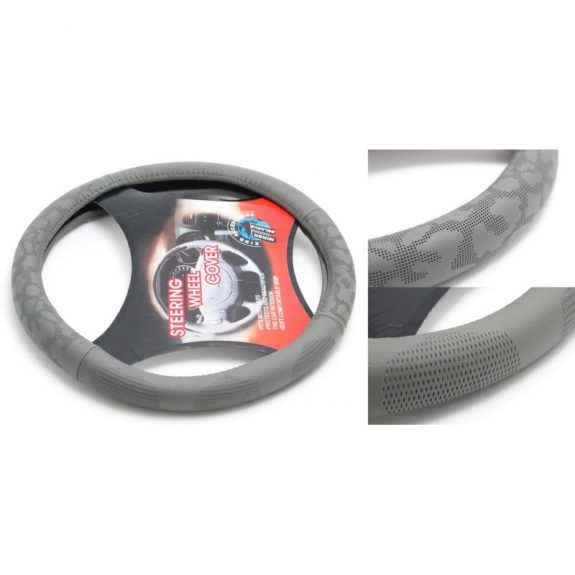 Чехол руля кожа H-8544-M (dark grey) (A)